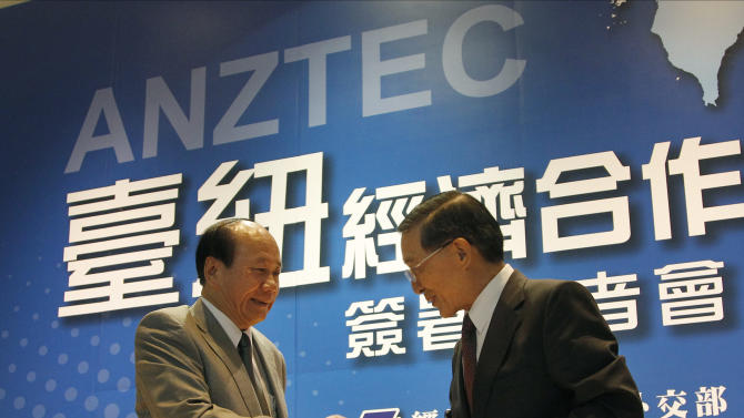 New Zealand, Taiwan sign free trade deal
