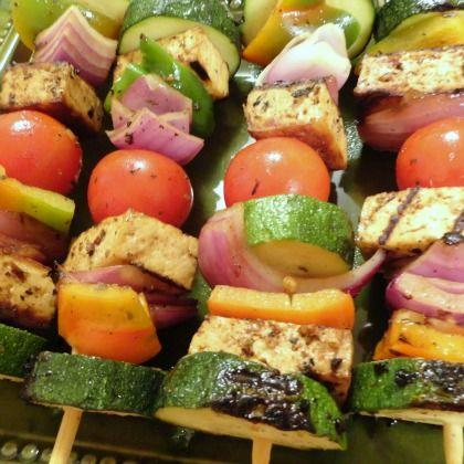 Grilled Veggie and Tofu Kabobs