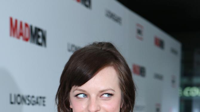 Elisabeth Moss at the AMC Season 6 Premiere of Mad Men , on Wednesday, March, 20, 2013 in Los Angeles. (Photo by Alexandra Wyman/Invision for AMC/AP Images)