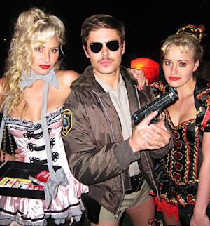 Zac Efron Wears Super-Short Shorts as Reno 911 Cop for Halloween