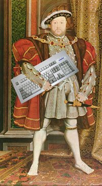 Image of King Henry the Eighth, on his way to History Hack Day