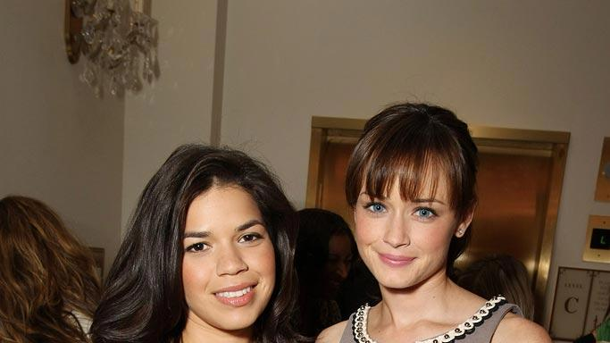 America Ferrera and Alexis Bledel at Warner Bros. Pictures 'The Big Pictures 08' at ShoWest.