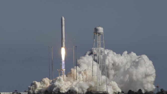 Rocket that will carry cargo ship test launched