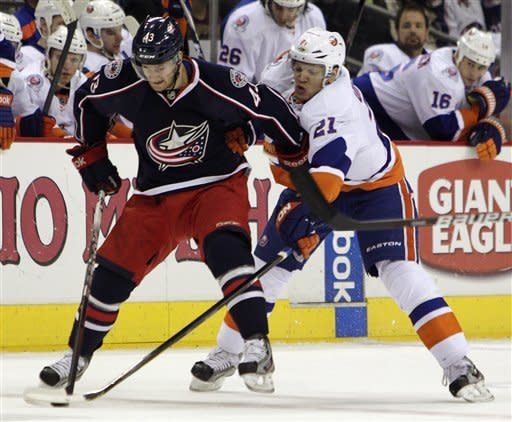 Atkinson's 2 goals lead CBJ over Isles, 7-3