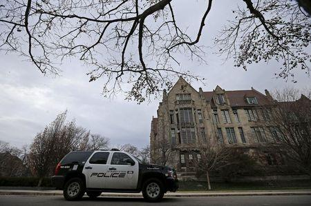 University of Chicago Police patrols the campus in Chicago