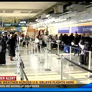 Severe weather across US delays local flights