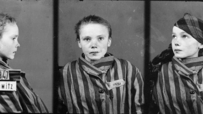 FILE - This is a prisoner identity photo provided by the Auschwitz Museum, taken by Wilhelm Brasse while working in the photography department at Auschwitz, the Nazi-run death camp. Brasse, a former Auschwitz prisoner who survived the camp after the Nazis discovered he was a professional photographer and put him to work taking pictures of other prisoners, has died. He was 95. The Nazis sent Brasse to the camp as a Polish political prisoner in 1940, where he estimates that he took some 40,000 to 50,000 such identity pictures for the Nazis. (AP Photo/Auschwitz Museum)