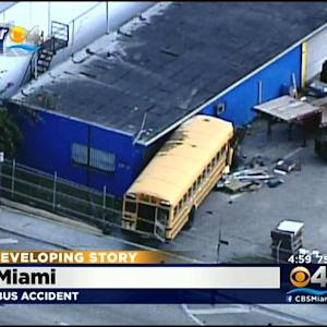 Bus Crashes Into Miami Business
