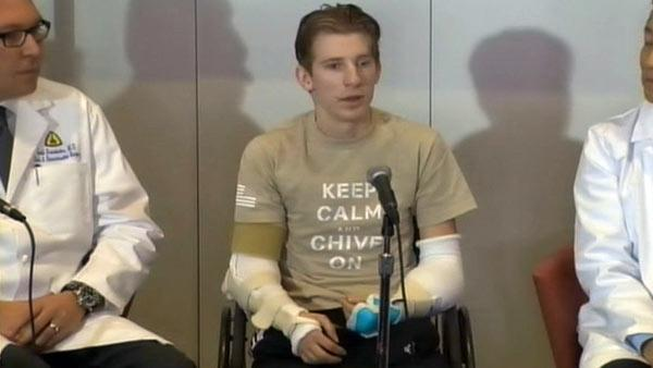 Soldier who lost limbs in Iraq looks forward to driving with new arms