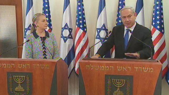 Netanyahu, Clinton on attacks on Israel