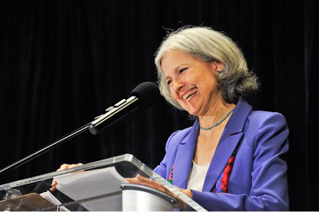 Green Party presidential candidate Jill Stein delivers her acceptance speech at the Green Party's convention in Baltimore on Saturday, July 14, 2012.