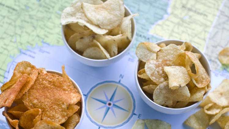 America: a patchwork of potato chip varieties