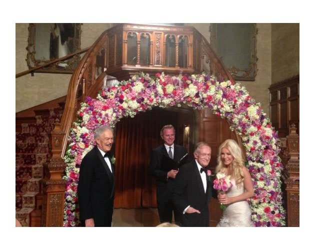 At 86, Hugh Hefner ties the knot