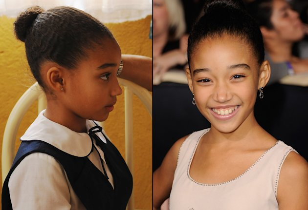 then and now the hunger games cast Amandla Stenberg