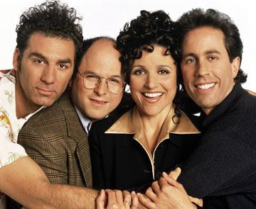 "Michael Richards, Jason Alexander, <a href=""/baselineperson/3901827"">Julia Louis-Dreyfus</a> and Jerry Seinfeld NBC's Seinfeld"