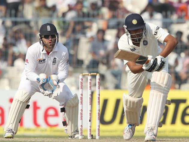 India's Ravichandran Ashwin bats on Day 4 of the Eden Gardens Test match against England in Kolkata.