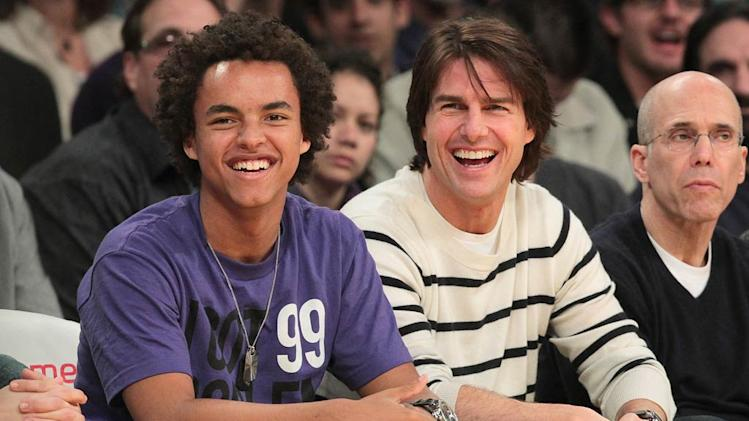 Connor Tom Cruise Lakers Game