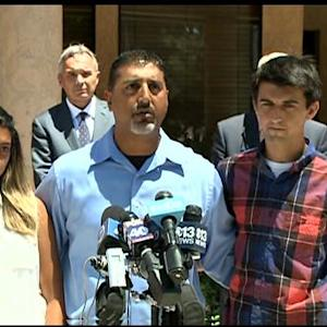 Raw: Family Of Slain Stockton Bank Hostage Holds Press Conference
