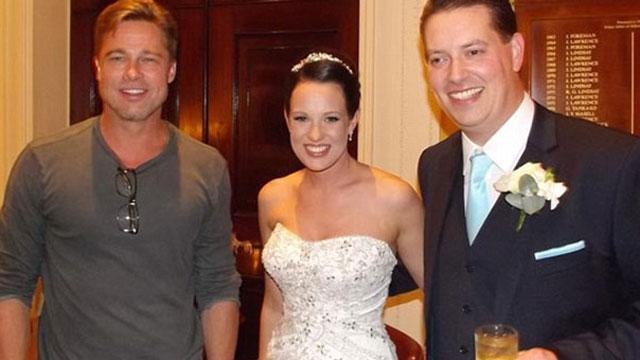Brad Pitt Crashes Couple's Wedding