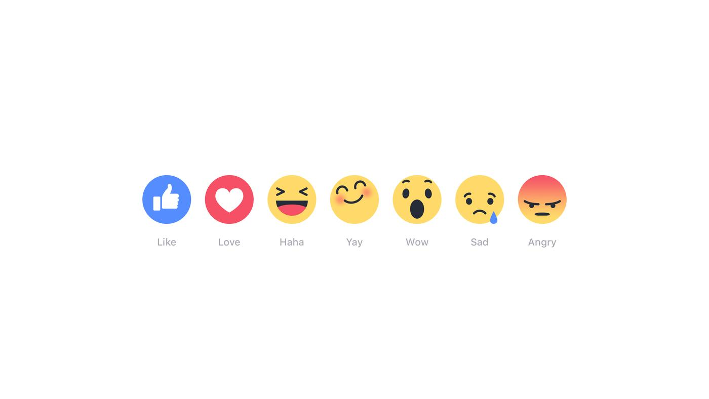 The five most things about Facebook's new reactions