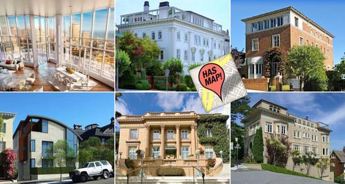 Curbed Maps: Updated! Mapping the 25 Most Expensive Homes for Sale in SF