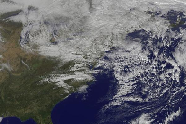 Satellite Traces Path of Sandy's Massive Rainfall