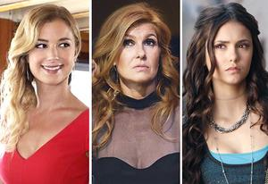 Emily VanCamp, Connie Britton, Nina Dobrev | Photo Credits: Karen Neal/ABC; Katherine Bomboy-Thornton/ABC; Bob Mahoney/The CW