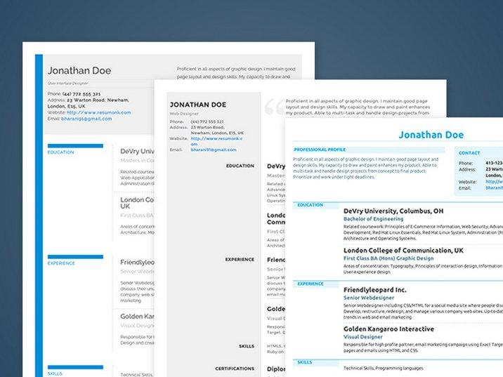 Land your dream job with the Resumonk Resume Creator