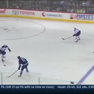 Jake Allen Save on Adam Lowry (01:58/1st)
