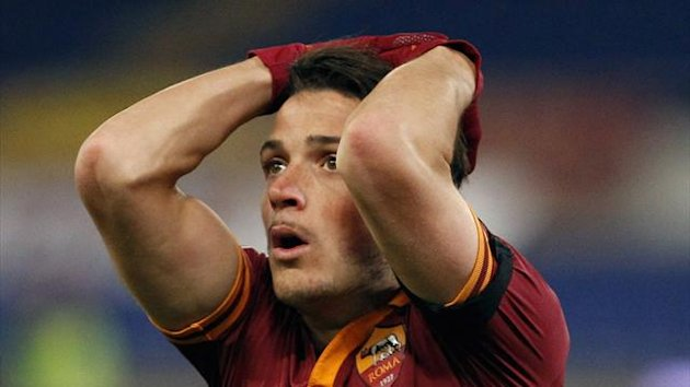 AS Roma's Alessandro Florenzi reacts (Reuters)