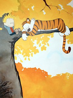 calvin and hobbes kids bedroom wall art