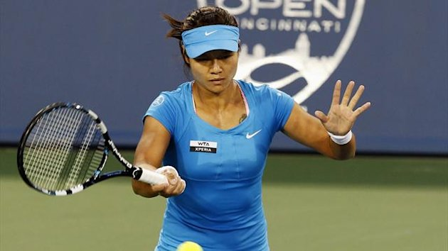 Li Na in action at the WTA Cincinnati Open (Reuters)