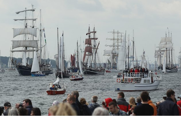 """Windjammer"" Tall Ships Parade In Kiel"
