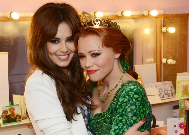 Celebrity photos: This week saw Kimberley Walsh's final performance as Princess Fiona in Shrek The Musical, and Cheryl Cole turned up to support her Girls Aloud band-mate. The pair posed for these cut