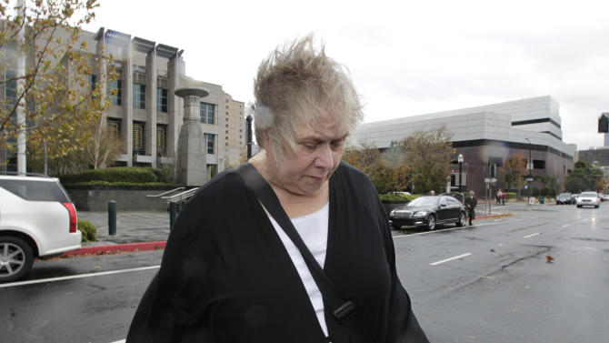 Former Democratic campaign treasurer Kinde Durkee leaves the federal courthouse in Sacramento, Calif.,  after she was sentenced to more than eight years in federal prison for defrauding high-profile clients, such as U.S. Sen. Dianne Feinstein, Wednesday, Nov. 28, 2012.  Durkee, who pleaded guilty to five counts of mail fraud in March, was sentenced to a total of 97 months  and was ordered to pay $10.5 million in restitution for tampering with the electoral process(AP Photo/Rich Pedroncelli)