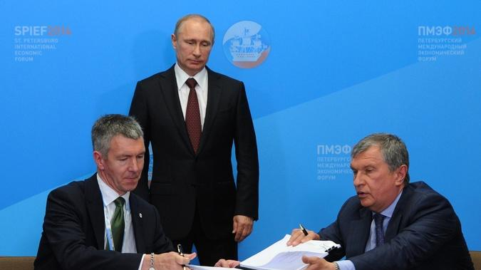 As World Leaders Discuss Russian Sanctions, BP and Rosneft Sign $2 Billion Deal