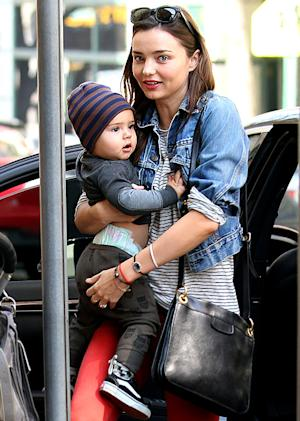 Miranda Kerr Does Squats with Son Flynn, 14 months