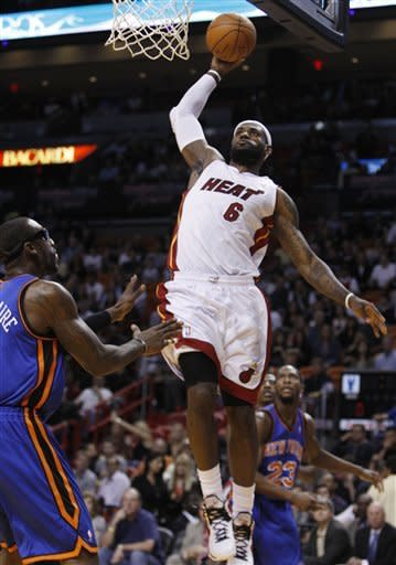 James, Wade lead Heat over Knicks, 99-89