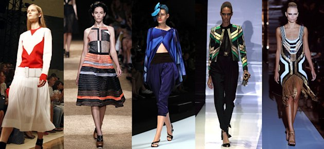 Celine, Proenza Schouler, Issey Miyake and Gucci Spring/Summer 2012 (Getty Images)