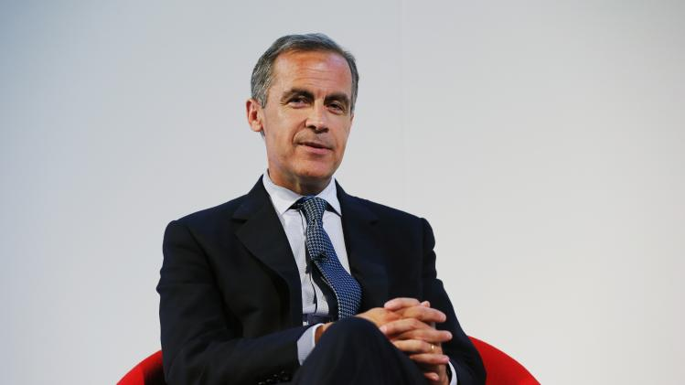 Bank of England Governor Carney answers a question after speaking at the Commonwealth Games Business Conference in Glasgow, Scotland