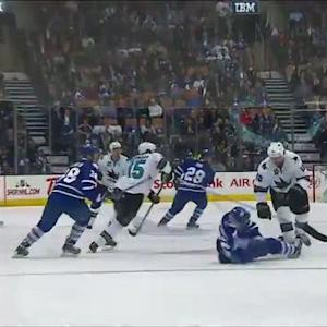Desjardin crushes Smithson on open ice