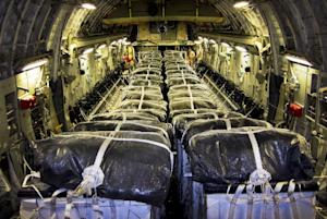 In this image released by the US Air Force, straps…