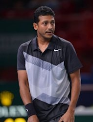 "Tennis star Mahesh Bhupathi, pictured here on November 4, said the suspensions would be a blessing in disguise for Indian sports ""as long as someone in a position to make a difference takes the lead and starts cleaning up the mess one by one"""