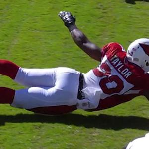 Arizona Cardinals running back Stepfan Taylor 2-yard touchdown catch