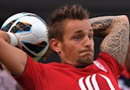 France international defender Mathieu Debuchy, pictured in July 2012, is to stay with Lille rather than join Newcastle after the English Premier League club failed to match the French side's valuation of the player, Lille chairman Michel Seydoux said Thursday
