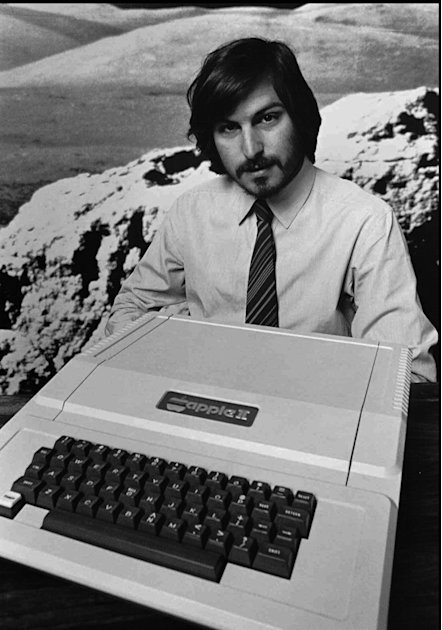 FILE - This 1977 file photo shows Apple Computer Inc. founder Steve Jobs as he introduces the new Apple II computer in Cupertino, Calif. Apple Inc. on Wednesday, Aug. 24, 2011 said Jobs is resigning a