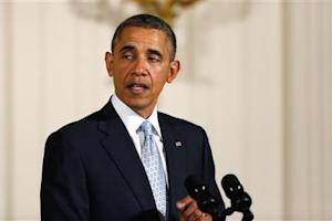 U.S. President Obama makes remarks during an Easter prayer breakfast in the East Room of the White House in Washington