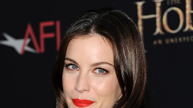"Actress Liv Tyler attends the premiere of ""The Hobbit: An Unexpected Journey"" at the Ziegfeld Theatre on Thursday Dec. 6, 2012 in New York. (Photo by Evan Agostini/Invision/AP)"