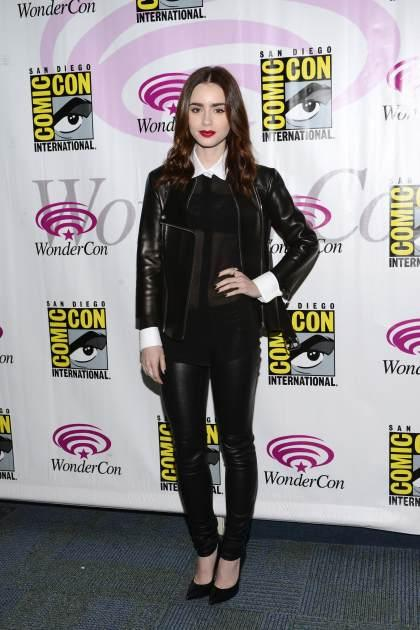 Lily Collins attends WonderCon Anaheim 2013 - Day 2 at Anaheim Convention Center on March 30, 2013 in Anaheim, Calif. -- Getty Images