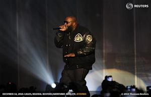 Rapper Rick Ross of the U.S. performs during the MTV Africa Music Awards in Lagos